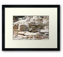 Rock Sculptures Framed Print