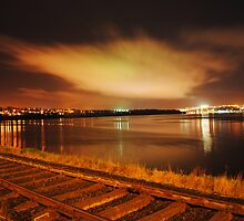 A Night Landscape of Derry City by Sarah Cowan