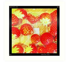 Strawberries welcome the summertime. Art Print