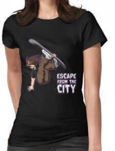 Escape From The City Womens Fitted T-Shirt