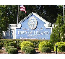 Leland Gateway to Brunswick County NC Photographic Print