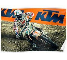 Motocrosser in a turn Poster