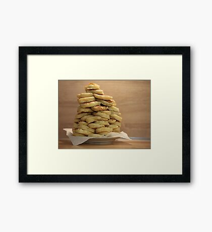 pile of pancakes on a plate Framed Print