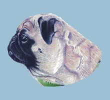 Pug Portrait T-shirt or Hoodie Kids Clothes