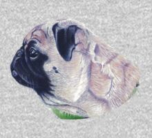 Pug Portrait T-shirt or Hoodie One Piece - Long Sleeve
