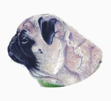 Pug Portrait T-shirt or Hoodie One Piece - Short Sleeve