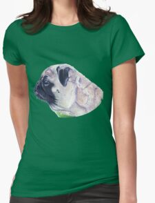 Pug Portrait T-shirt or Hoodie Womens Fitted T-Shirt