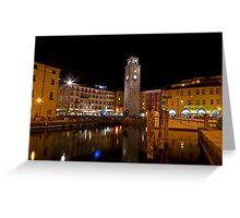 Notte a Riva del Garda Greeting Card
