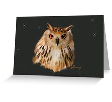 Owl Portrait Greeting Card
