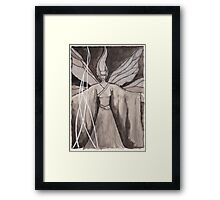 Moth Girl Framed Print