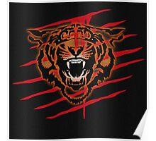 Tiger Blood Evil Slash Drip Poster