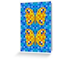 532 Squares And 2 Butterflies - Brush And Gouache Greeting Card