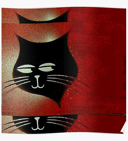 Three Sly Black Cats in Heat Poster
