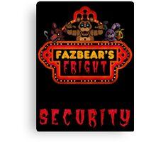Five Nights at Freddy's - FNAF 3 - Fazbear's Fright Security Canvas Print
