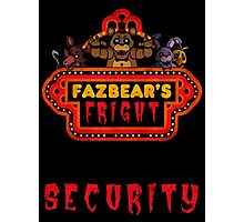Five Nights at Freddy's - FNAF 3 - Fazbear's Fright Security Photographic Print