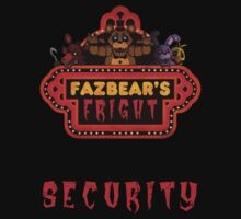 Five Nights at Freddy's - FNAF 3 - Fazbear's Fright Security One Piece - Short Sleeve