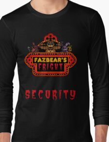 Five Nights at Freddy's - FNAF 3 - Fazbear's Fright Security Long Sleeve T-Shirt