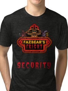 Five Nights at Freddy's - FNAF 3 - Fazbear's Fright Security Tri-blend T-Shirt