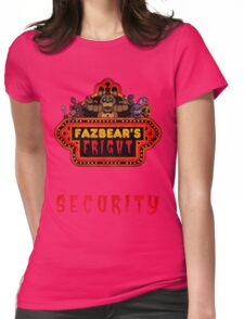 Five Nights at Freddy's - FNAF 3 - Fazbear's Fright Security Womens Fitted T-Shirt