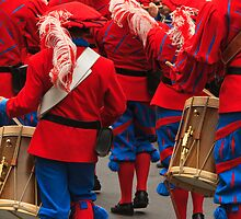 Red and Blue Drummers by Tomas Abreu
