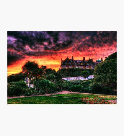 Flaming Sunset Photographic Print