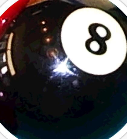 Black 8-Ball Billiards Pool Ball Sticker Sticker