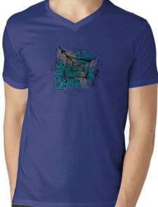 Disintegration Pixels 1 Mens V-Neck T-Shirt