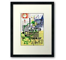Rinjani X Popo Framed Print