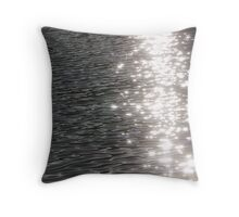 Glittery Water Throw Pillow