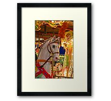 Come ride the carosel! Framed Print