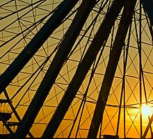Big Wheel Sunset by PhotoKismet