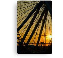 Big Wheel Sunset Canvas Print