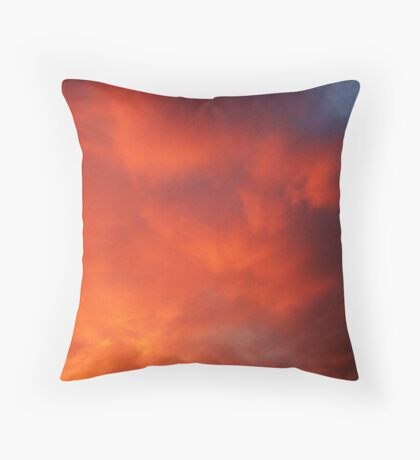 the passionate language of clouds  Throw Pillow
