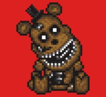 Five Nights at Freddys 4 - Mini Freddy - Pixel art One Piece - Short Sleeve