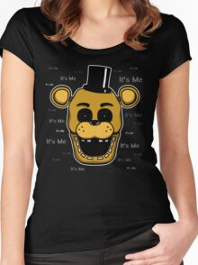 Five Nights at Freddy's - FNAF - Golden Freddy - It's Me Women's Fitted Scoop T-Shirt