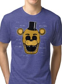 Five Nights at Freddy's - FNAF - Golden Freddy - It's Me Tri-blend T-Shirt