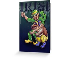 Irish vs Wolverine Greeting Card