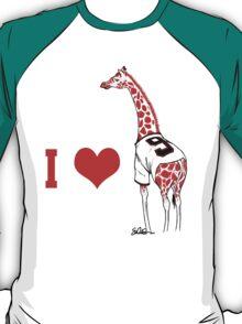 I ♥ Belt Giraffe T-Shirt