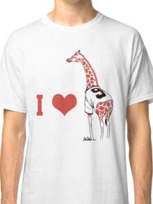 I ♥ Belt Giraffe Classic T-Shirt