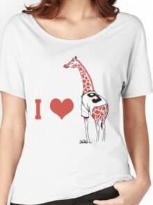 I ♥ Belt Giraffe Women's Relaxed Fit T-Shirt