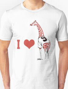I ♥ Belt Giraffe Unisex T-Shirt