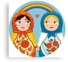 Russian doll brides Canvas Print