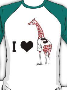 I ♥ Belt Giraffe (Version 2) T-Shirt