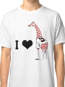 I ♥ Belt Giraffe (Version 2) Classic T-Shirt