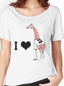 I ♥ Belt Giraffe (Version 2) Women's Relaxed Fit T-Shirt