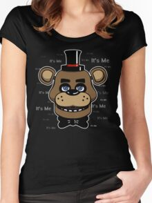 Five Nights at Freddy's - FNAF - Freddy - It's Me Women's Fitted Scoop T-Shirt