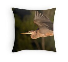 Off Into The Great Blue Throw Pillow
