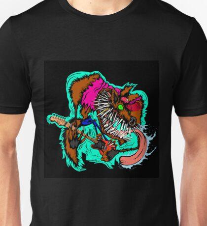 Wolfie the Guitar Shreddin' Wolf Unisex T-Shirt