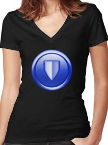 City of Heroes - Defender Women's Fitted V-Neck T-Shirt