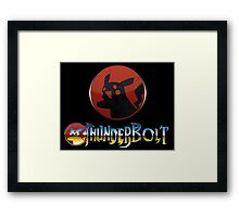 Thunder, Thunder, Thunderbolt! POKEMON/THUNDERCATS MASH UP Framed Print